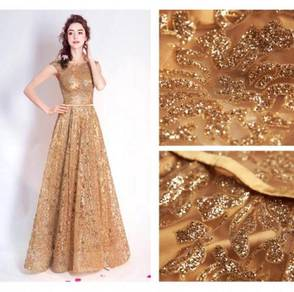 Gold glitter dinner dress prom wedding RBP0073