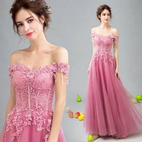 Pink dinner dress prom party wedding bridal RB0085