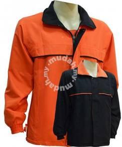 Reversible Windbreaker Kod 222 Black/Orange