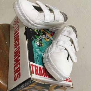 Transformer White School Shoes