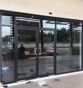 Glass/plaster partition carpet penang office