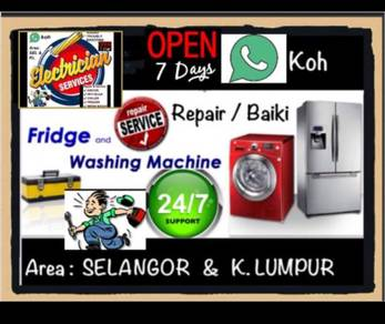 Repair Chiller Freezer Baiki Peti Ais Sejuk Fridge