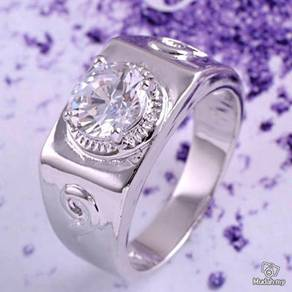 ABRWG-W011 Handsome 9K White Gold Filled CZ Ring
