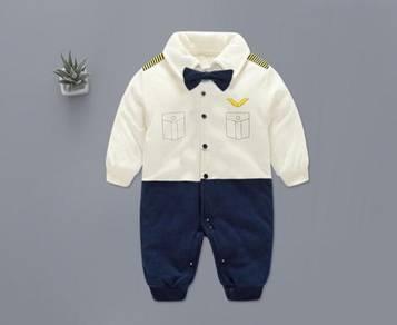 Cute Baby Mr Pilot Romper Long Sleeves
