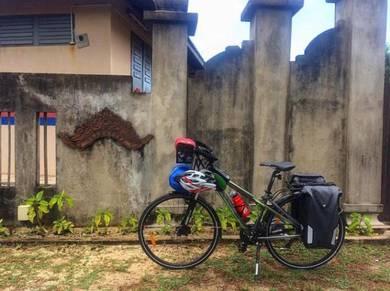 Basikal Touring dengan Pannier beg & Handle beg