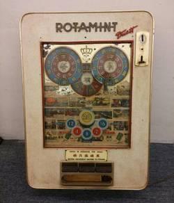 Antique Rotamint slot machine