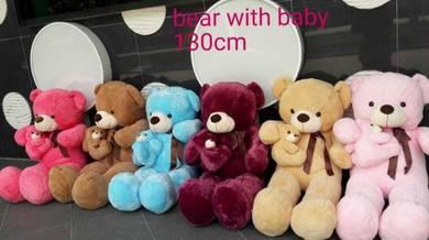 Teddy bear with baby 130cm