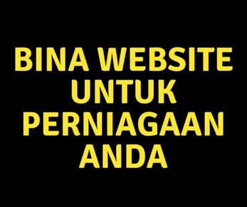 Bina website untuk perniagaan anda