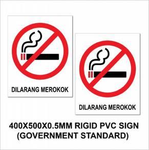 Dilarang merokok / no smoking rigid pvc sign 2's
