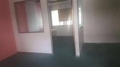 Alum glass/ partition and carpet kedah office