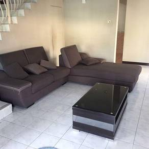L shape 3 seater with coffee table