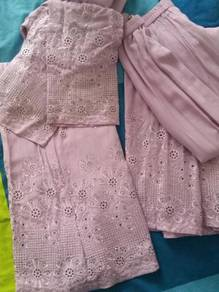 Baju kurung modern cotton sulam