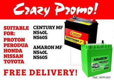 Amaron Century NS40 NS60 Bateri kereta car battery