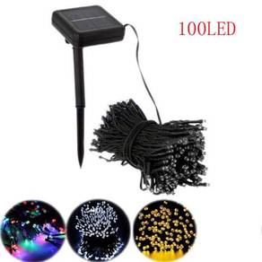 100 Leds 12 metre solar waterproof String Color