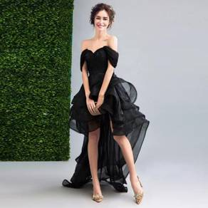 Black dinner dress prom party wedding gown RB0088