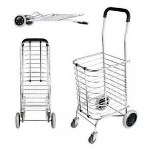 4 wheels aluminion shopping cart / trolley 02