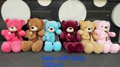 Teddy bear 130cm witch baby