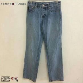 Tommy Hilfiger button fly jeans denim lady seluar
