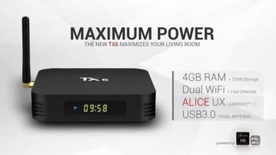 TX6 MX10 TX3 4GB 32GB BT Wifi 5G Android TV Box 4K