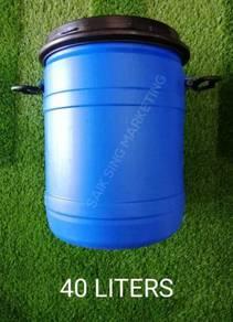 40 Liter Tong Drum Plastik Biru Bertangkai Plastic
