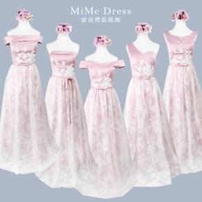 Pink wedding bridal bridesmaid prom dress RBBD0028