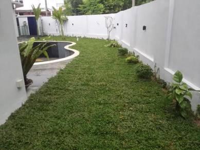 Lemanan Rumah- Tanam Rumput\=potong pokok