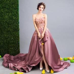 Pink dinner dress prom party wedding bridal RB0089