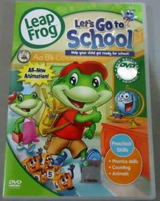 DVD Leap Frog Let's Go to School Anime