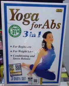 DVD Yoga for Abs 3 in1 for Beginners, Weight Loss,