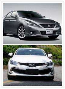 Toyota Mark X 2018 Front Bumper Conversion