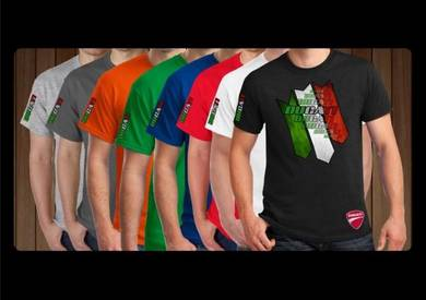 Baju T-Shirt DUCATI FONT FLAG NSQ192 siap poslaju
