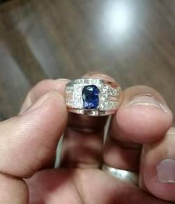 Cincin Perak Nilam Ceylon Blue