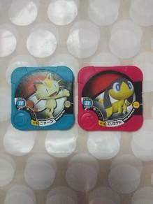 Pokemon tretta meowth and pokemon tretta helioptil
