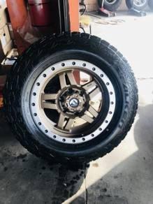 Sport rim 4x4 fuel 17 tayar comel