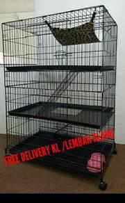 Sangkar kucing\ Cat cage (3 tingkat)