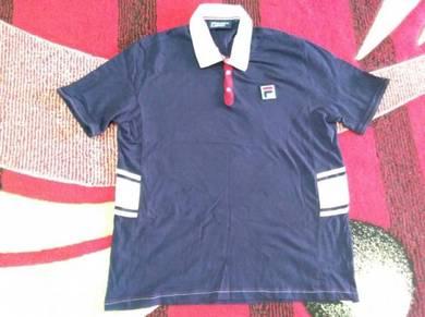 Fila polo shirt snap button fits to size l