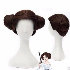 Star Wars Princess Leia wig hair cosplay