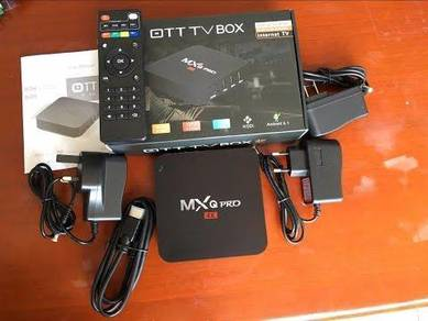 (FulHD Cepat) Mxq android tv decoder box