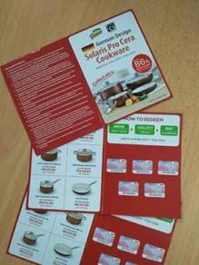 Giant Stamp / Stickers to redeem German Cookware