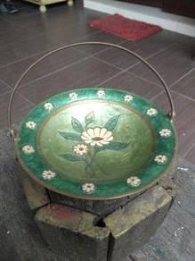 Cpe antique vintage cooper plate lama antik old