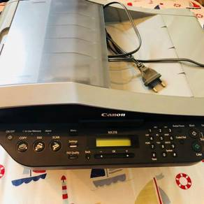 Canon inkject colored printer with scan and fac