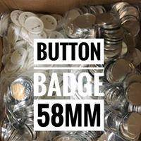 58mm Button Badge with back pin
