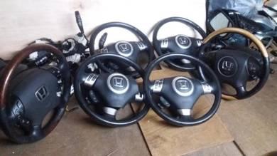 Honda Odyssey RB1 SDA 3Spoke Walnut Steering