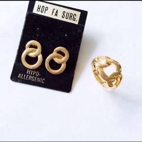 Earrings And Ring Set (size 3)