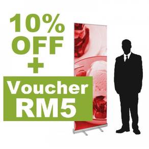 Retractable Roll Up Banner Stand 60 x 200 cm