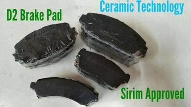 D2 ceramic brake pad wira myvi waja alza personap