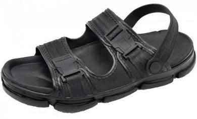 S0207 Black Slip On Sandal Men Beach Outdoor Shoes