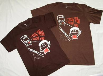 Couple Tee (Shout out your Love)-Brown