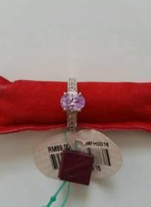 Rhodium plated diamond ring / cincin zhulian