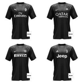 Black clothing jersey
